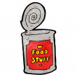 Canned food cartoon — Stock Vector