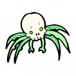 Skull spider cartoon — Stock Vector