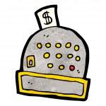 Cartoon cash register — Stock Vector