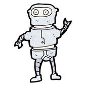 Cartoon funny robot costume — Stock Vector