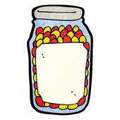 Cartoon jar of pills — Stock Vector