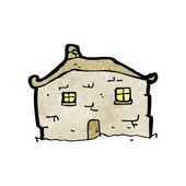 Cartoon crumbling old cottage — Stock Vector