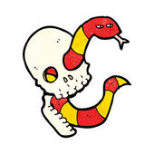 Skull With A Snake — Stock Vector