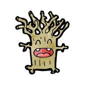 Cartoon tree character — Stock Vector
