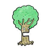 Schockiert Baum cartoon — Stockvektor