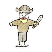 Cartoon viking — Stock Vector