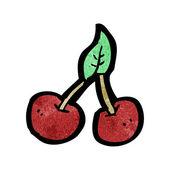 Cartoon cherries — Stock Vector