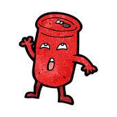 Ansioso de bebidas podem dos desenhos animados — Vetor de Stock