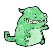 Grinning monster cartoon — Stock Vector