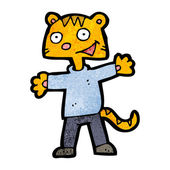 Cartoon Of A Ginger Cat Wearing Clothes — Cтоковый вектор