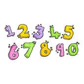 Cartoon number set — Stock Vector