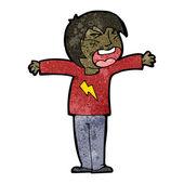 Cartoon shouting person — Stock Vector