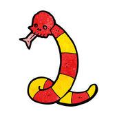 Cartoon snake with skull — Stock Vector
