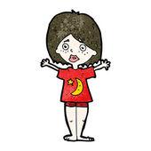 Embarrassed woman cartoon — Stock Vector