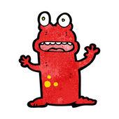 卡通疯狂的青蛙 — 图库矢量图片