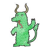 Green Devil Alien Or Monster — Stock Vector