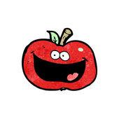 幸せなアップル漫画 — ストックベクタ