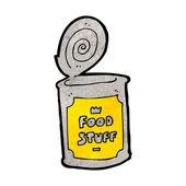Cartoon canned food — Stock Vector