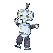 Cartoon dancing robot — Stock Vector