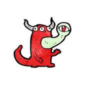 Personaje de dibujos animados de monstruo bruto — Vector de stock