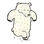 Cartoon dancing polar bear — Stock vektor