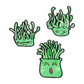 Cartoon sea anemone collection — Stock Vector