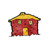 Tumbledown old house cartoon — Stock Vector