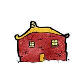 Förfallna gamla hus cartoon — Stockvektor