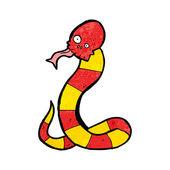 Red Skull Snake — Stock Vector