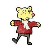 Cartoon unimpressed björn — Stockvektor
