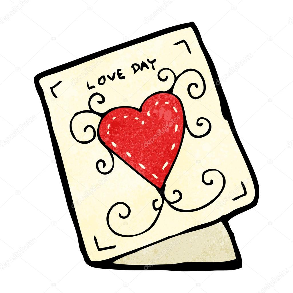 Cartoon valentine day card — Stock Vector ...