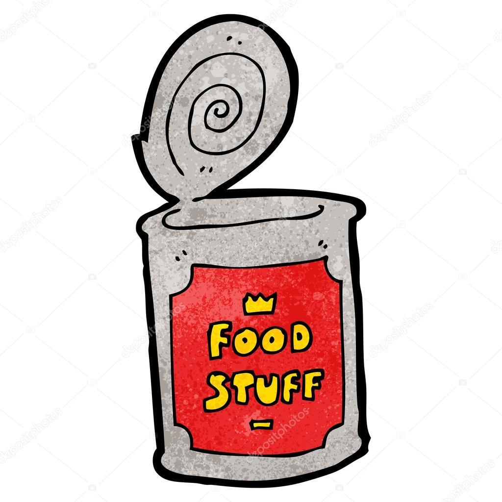 Canned food cartoon — Stock Vector © lineartestpilot #21550421