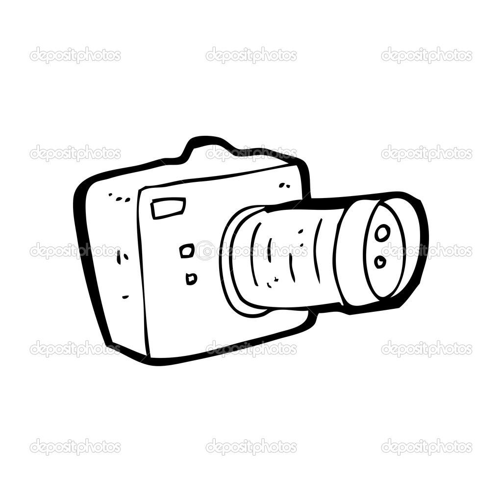 dessin anim u00e9 de la lentille de zoom appareil photo  u2014 image vectorielle lineartestpilot  u00a9  21571665