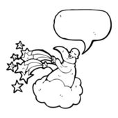 God on cloud with speech bubble — Vecteur