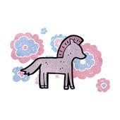 Retro cartoon horse — Stock Vector