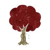 Retro cartoon tree — Stock Vector