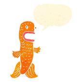 レトロな漫画面白い金魚のスピーチの泡 — ストックベクタ