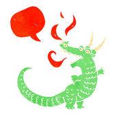 Retro kreskówka przyjazny smoka — Wektor stockowy