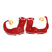 Retro cartoon christmas shoes — Stock Vector