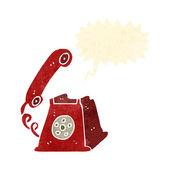 Retro cartoon telephone — Stock Vector