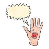 Spooky mains hurlante de dessin animé rétro — Vecteur