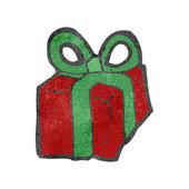 Retro cartoon christmas present — Stock Vector