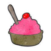 Retro kreslený zmrzlinový dezert — Stock vektor