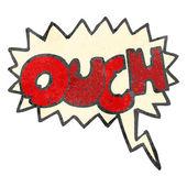 Retro cartoon comic book ouch symbol — Stock Vector