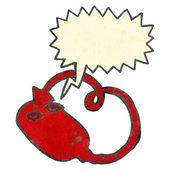 ретро мультфильм зло компьютерной мыши — Cтоковый вектор