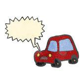 Retro cartoon car honking horn — Stock Vector