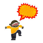 Retro cartoon boy having temper tantrum — Stock Vector