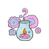 Retro cartoon scented candle — Stock Vector