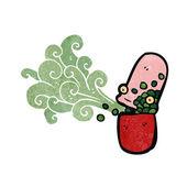 Ретро Мультфильм таблетки — Cтоковый вектор