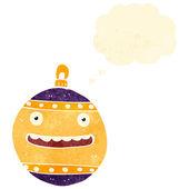 Retro cartoon christmas decoration — Stock Vector